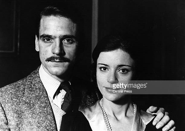 Actor Jeremy Irons with actress Diana Quick