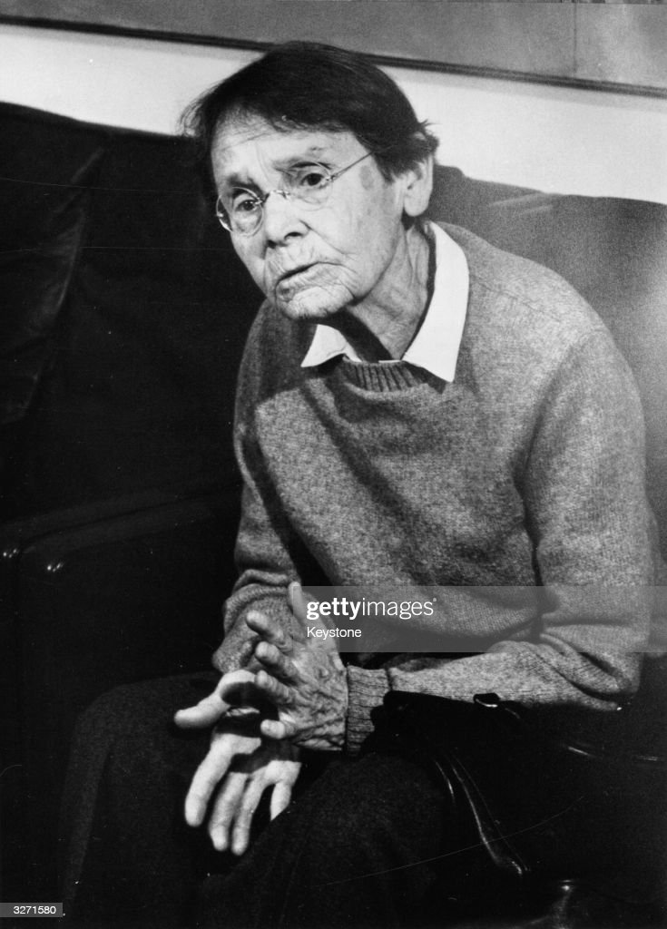 US geneticist and biologist Barbara McClintock, winner of the 1983 Nobel prize for physiology or medicine, at Stockholm.