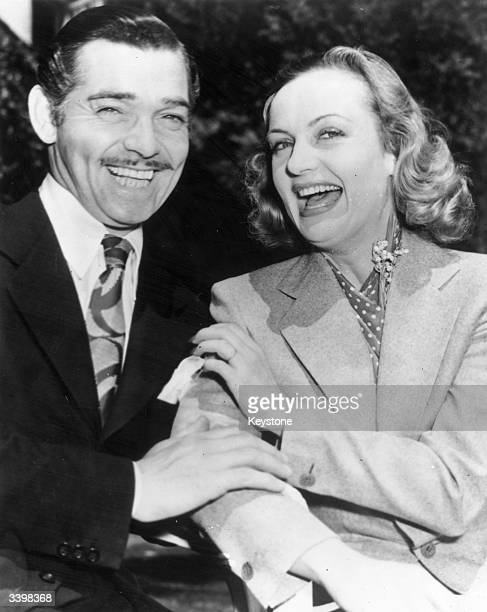 US film actors Clark Gable and Carole Lombard after their elopement