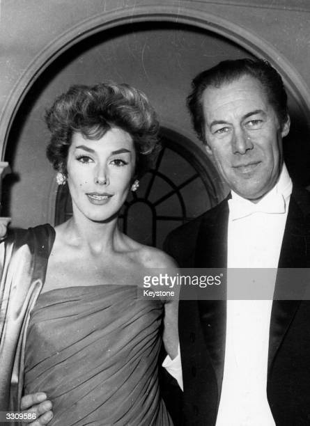 Actors Rex Harrison and Kay Kendall in Paris