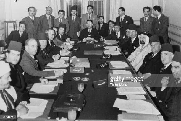 Delegates to the Arab League meeting in Cairo discuss the possibility of war presumably with Israel