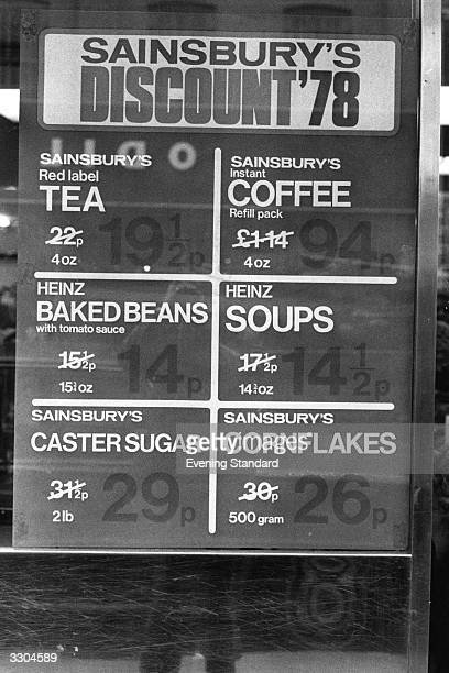 A sales notice for Sainsbury's supermarket