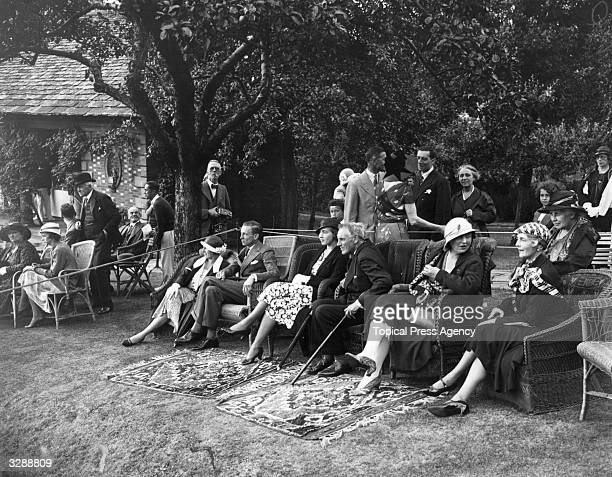 Princess Louise Emma Marie Juliana of the Netherlands at the Highgate home of Lady Crosfield with Lady Mary Smith Lord Herbert Princess Ingrid Sir...