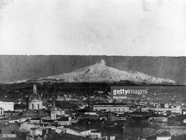A view of Catania Sicily at the foot of Mount Etna
