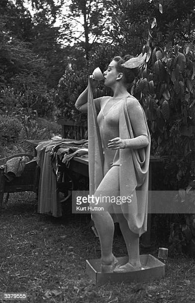 Dancer Mary Honer plays Ariel in Robert Atkin's Bankside Players performance of Shakespeare's 'The Tempest' in Finchley London as part of the...