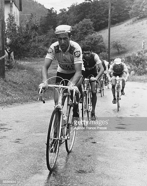 British cyclist Tommy Simpson on the 8th stage of the Tour de France only days before his death from heart failure
