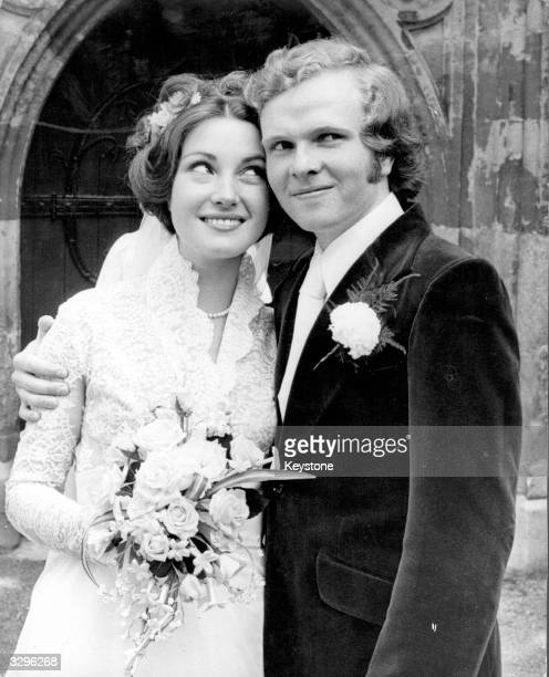 The film actress Jane Seymour and Michael Attenborough son of Richard Attenborough on their wedding day