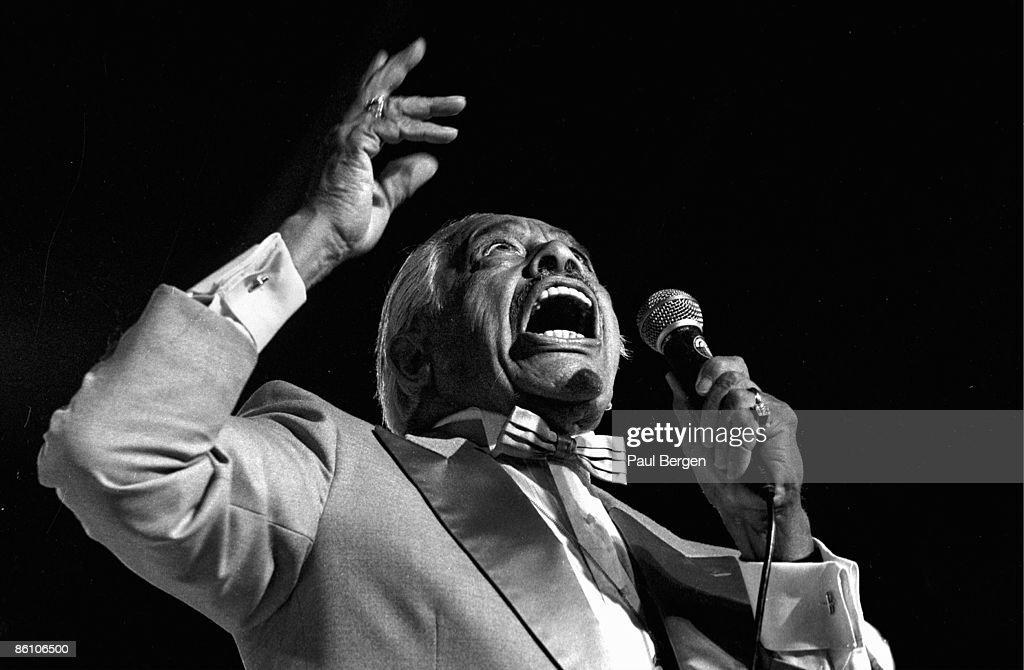 American singer Cab Calloway (1907-1994) performs live on stage at the North Sea Jazz Festival in the Netherlands on 10th July 1990.
