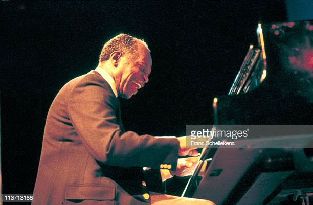 Piano player Hank Jones performs at the North Sea Jazz festival in the Congresgebouw in The Hague Netherlands on 10th July 1983
