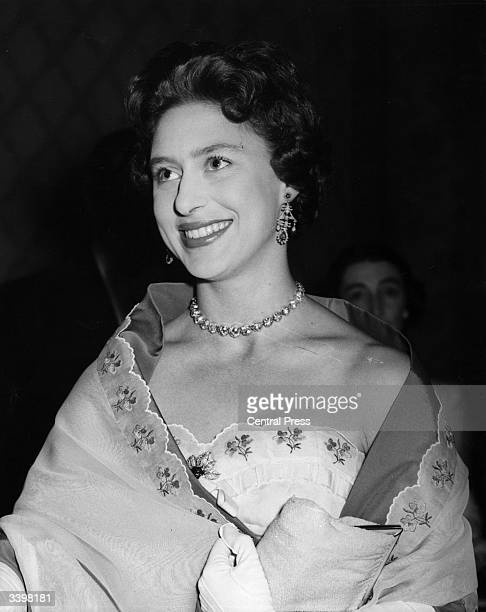 HRH Princess Margaret arriving at London's Hurlingham Club to attend a ball in aid of King George's fund for sailors