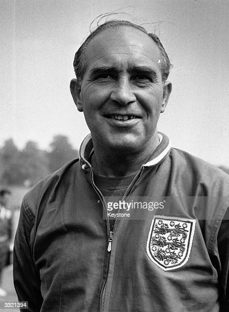 Sir Alf Ramsey manager of the England football team