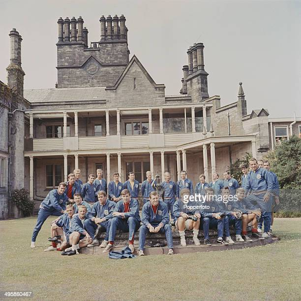 The England 1966 World Cup football squad and training staff posed together outside the National Recreation Centre at Lilleshall Shropshire on 10th...
