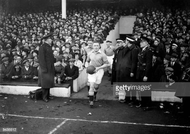 Barkas captain of Birmingham FC enters the pitch