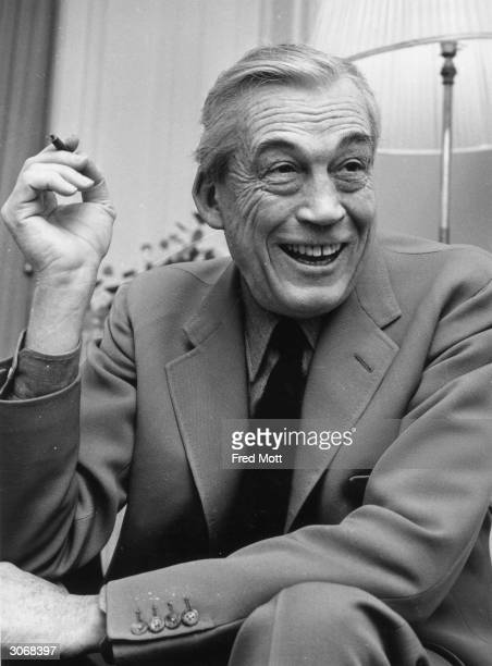American film director John Huston in his hotel suite at Claridges London His prodigious resume includes such movie classics as 'The Treasure of the...