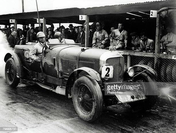 10th May 1930 England Woolf Barnato's Bentley pictured at the Brookland's racetrack