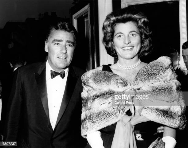 Film actor Peter Lawford the British actor and his wife Pat Kennedy