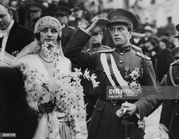 King Leopold III of Belgium with his bride Queen Astrid just after their wedding in Brussels Queen Astrid was killed and her husband injured in a car...