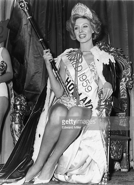 Corine Rottschafer, the winner of the Miss Holland competition after being crowned Miss World at the Lyceum Ballroom in London.