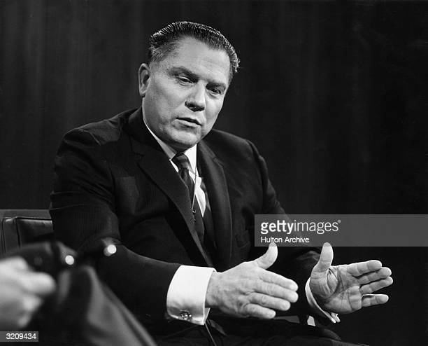 James R. Hoffa , President of the Teamsters Union, discussing expansion of the union at an interview on WNBC TV's, 'Open Mind'.