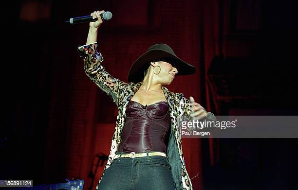 American singer and actress Alicia Keys performs live on stage at the Heineken Music Hall in Amsterdam Netherlands on 10th November 2002
