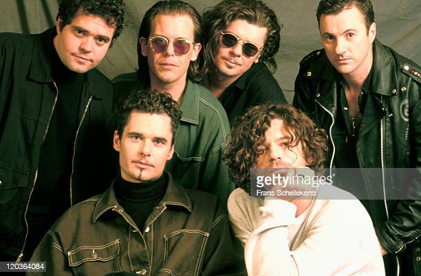 Australian band INXS pose in Bussum Netherlands on 10th November 1992 The band members are Garry Gary Beers Andrew Farriss John Farriss Tim Farriss...