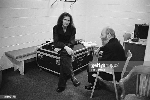 Guitarist Ritchie Blackmore from rock group Rainbow posed backstage at the Forum in Montreal Canada on 10th November 1975