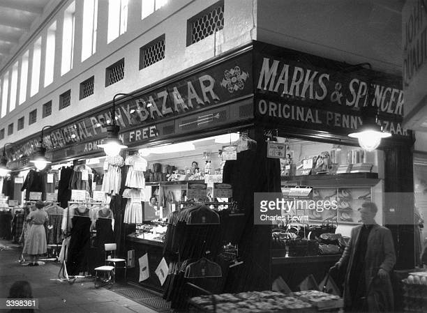 Marks and Spencer's Original Penny Bazaar at NewcastleuponTyne Original Publication Picture Post 7984 Marks and Spencer's pub 1955