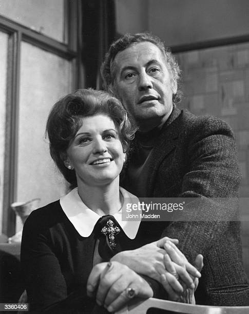 Actors Patricia Phoenix and Alan Browning as Elsie Tanner and Alan Howarth in the television soap opera ' Coronation Street'