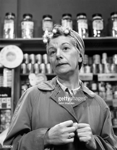 Actress Jean Alexander as Hilda Ogden in the television soap opera 'Coronation Street'