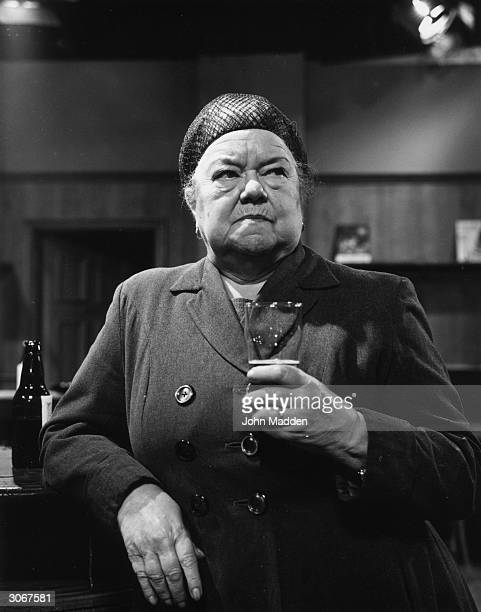 English actress Violet Carson playing the part of Ena Sharples in Coronation Street