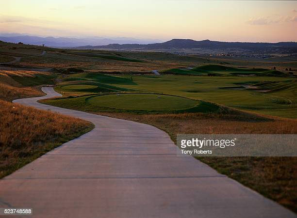 10th tee at red hawk ridge golf course - castle rock colorado stock pictures, royalty-free photos & images