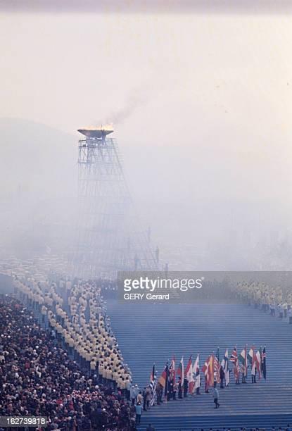 10Th Winter Olympic Games Of Grenoble 1968 Le grande parade des délégations à la cérémonie d'ouverture des 10ème Jeux Olympiques d'hiver de Grenoble...