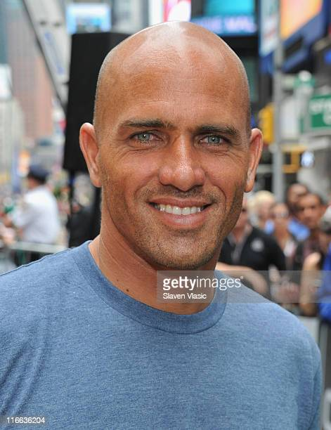10x World surfing champion Kelly Slater attends the Air in the Square BMX and Skateboard event in Times Square on June 16 2011 in New York City