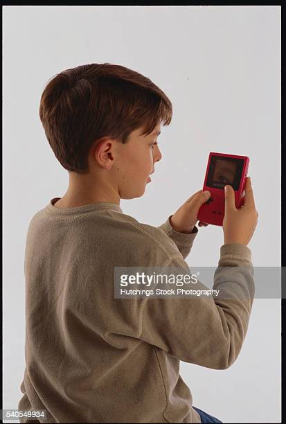 10-Year-Old Boy Playing Video Game