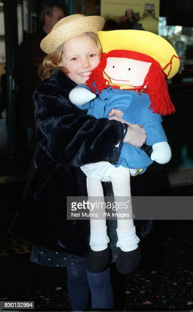 10yearold schoolgirl Hatty Jones from Muswell Hill London who was picked from thousands of hopefuls to land the title role in the film Madeline hugs...