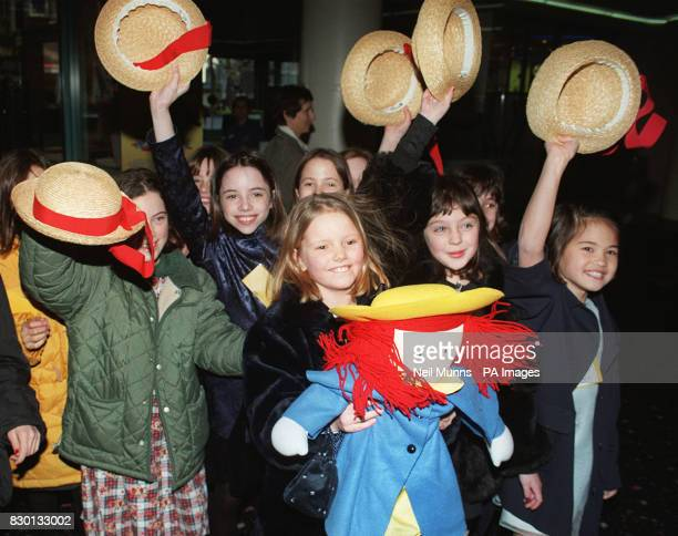 10yearold schoolgirl Hatty Jones from Muswell Hill north London who plays the title role in the film Madeline hugs her doll outside Warner Village...