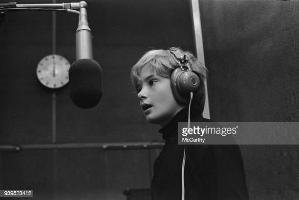 10yearsold actor Mark Lester celebrate his birthday at a recording session with producer Simon Bell UK 11th July 1968