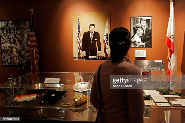 Simi Valley A patron views the desk with various artifacts from Reagan's days as governor A visit to the Ronald Reagan Presidential Library to get...