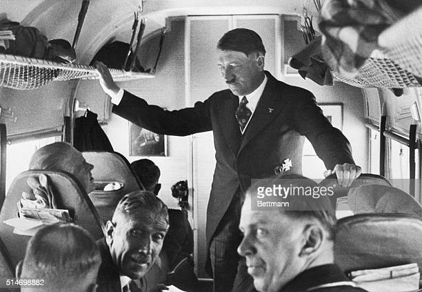 BerlinGermanyAdolf Hitleris the central figure in this most amazing of campaign photographsHe is talking with a group of his coworkers of which the...