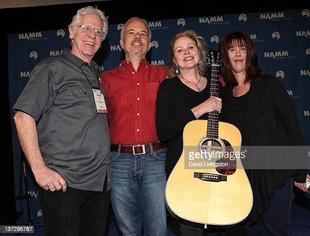 110th NAMM Show's Media Preview Day Dick Boak Head of Artist Relations for CF Martin Co John Phillips' son Jeffrey Phillips musical icon Michelle...