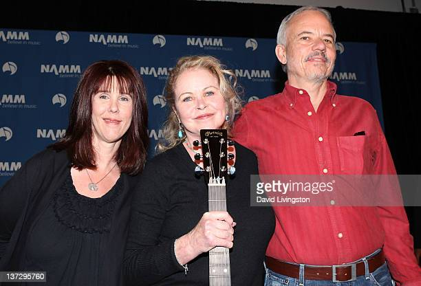 110th NAMM Show's Media Preview Day Mama Cass Elliot's daughter Owen ElliotKugell musical icon Michelle Phillips and John Phillips' son Jeffrey...
