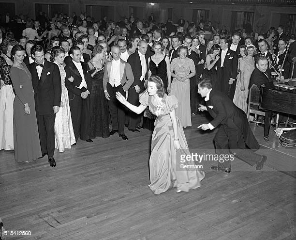 """New York, NY- It isn't often the Grand Ballroom of the Waldorf-Astoria is the scene of the """"Lindy,"""" but Don Sutherland and Doris Kennion got """"in the..."""