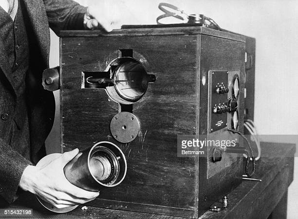 1/11/1930San Francisco California A closeup of the transmitting section of the new and revolutionary television device perfected by Philo Farnsworth...