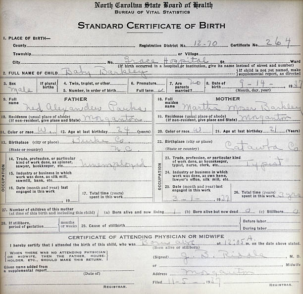 Birth Certificate Of Baby Barkley Pictures Getty Images