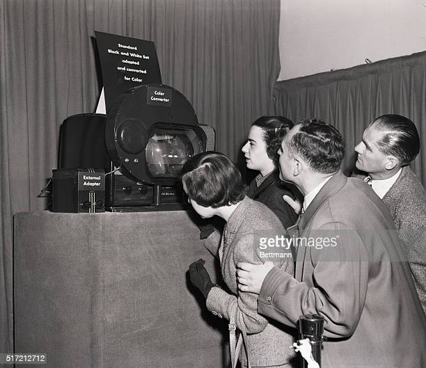 New York, NY: New York reporters and other visitors saw a demonstration of the CBS Color Television System today in advance of the public showings,...