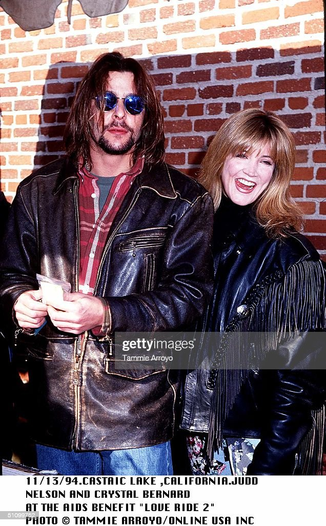 Castaic Lake California Judd Nelson And Crystal Bernard At The Aids Benefit Love Ride 2 : News Photo