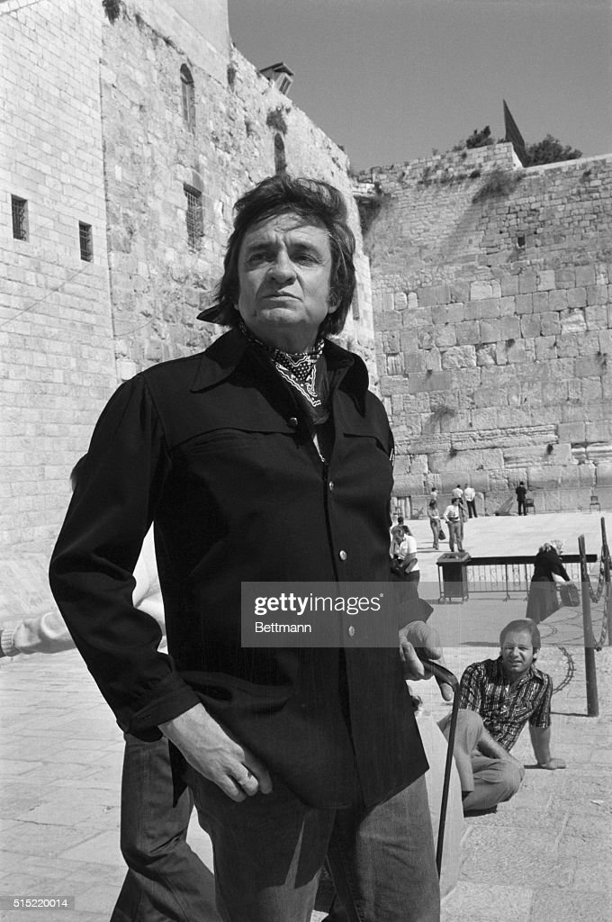 Johnny Cash at Western Wall Pictures | Getty Images