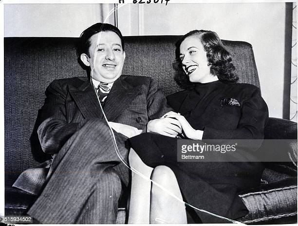 San Francisco CA A loveydovey pose of Billy Rose impresario of things theatrical and Mrs Eleanor Holm Jarrett former famous swim star and now seeking...