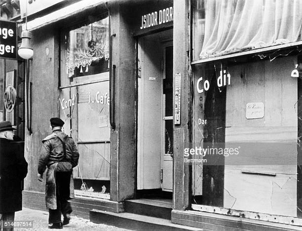 Kristallnacht Berlin GermanyAlthough only an infinitesimal fraction of the total destruction wroughtthis photo gives an idea of what happened to...