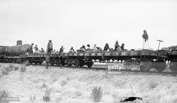 Mexican Revolution of 1913 Photo shows women camp followers of the rebels on a train car cooking for the hungry fighters caring for the wounded